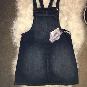 Other - Stretchy denim overall dress/skirt